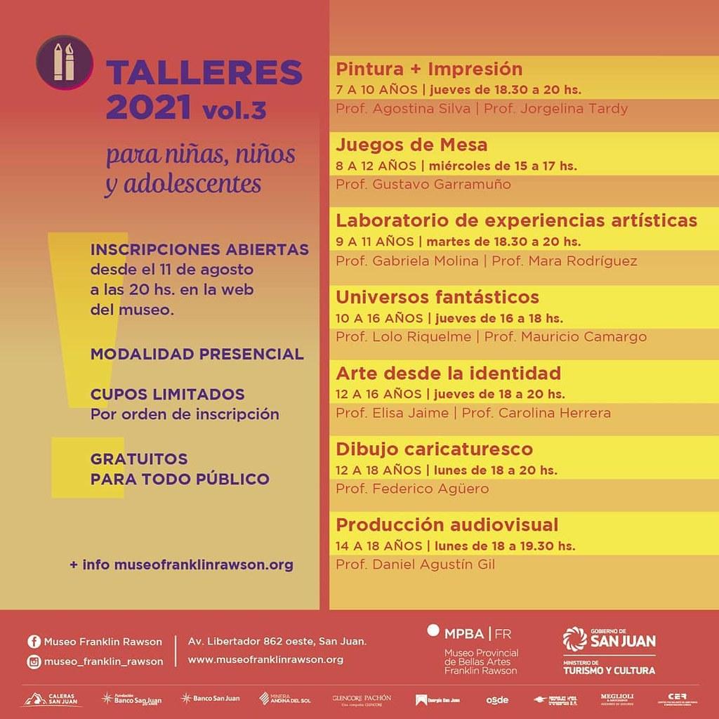 El Museo Franklin Rawson lanza la tercera etapa de talleres gratuitos : Entretenimiento de Argentina