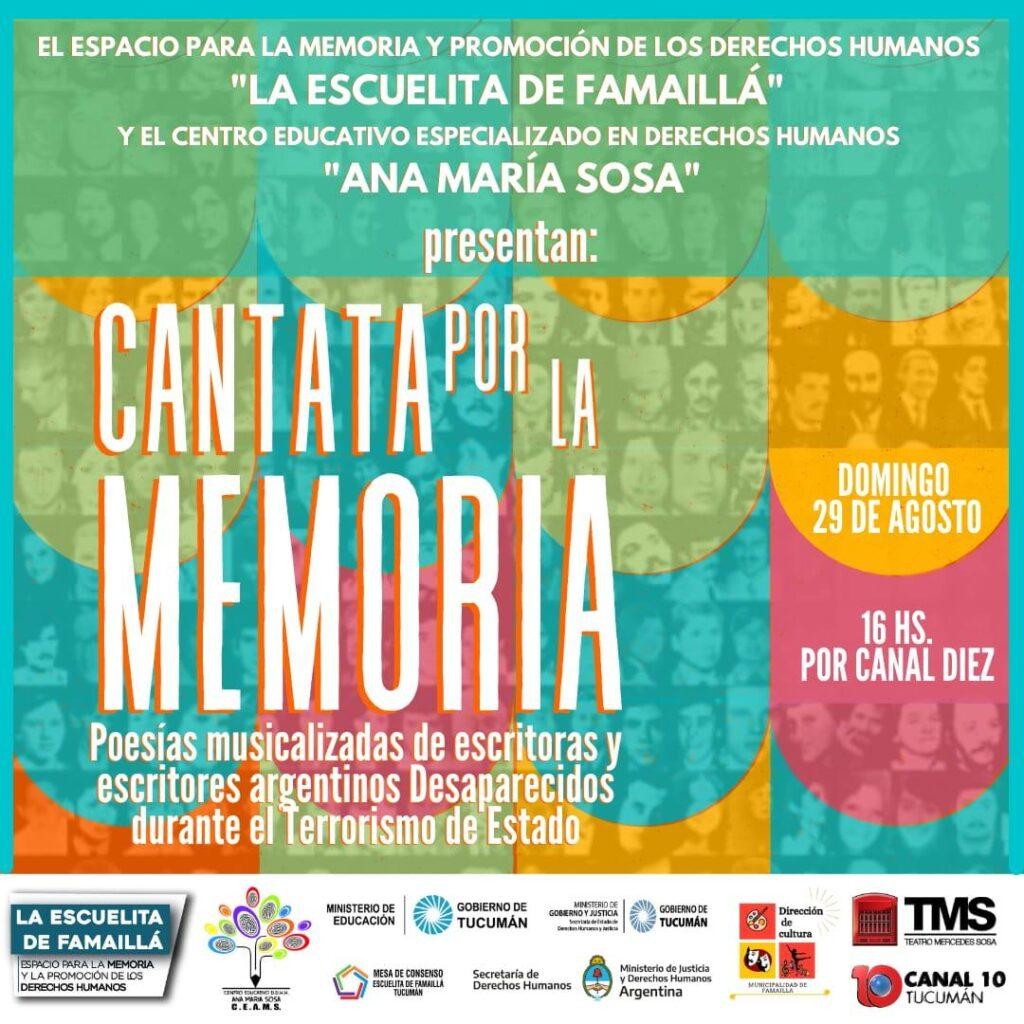 En Famaillá, se estrenará una Cantata por la Memoria de los desaparecidos