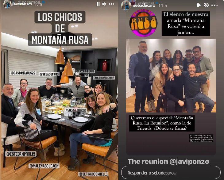 El elenco de Montaña Rusa se reencontró y quiere un especial al estilo Friends : Entretenimiento de Argentina