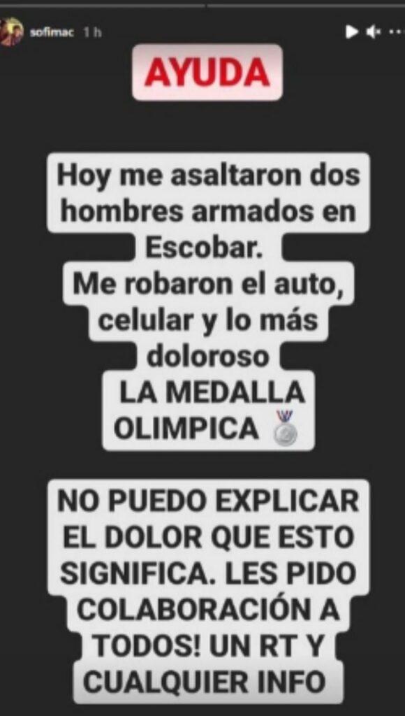 Asaltaron a una Leona y le robaron su medalla olímpica : Deportes de Argentina